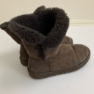 UGG | Bailey brown one button boots 8